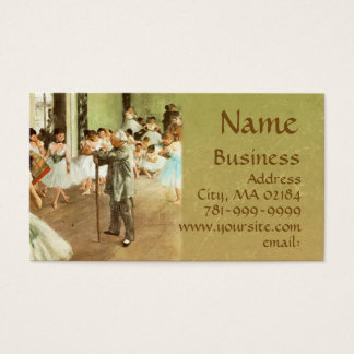 KRW Custom Degas Ballerinas Business Card