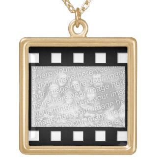 KRW Custom Film Strip Photo Gold Necklace