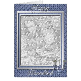 KRW Custom Happy Hanukkah Photo Frame Card