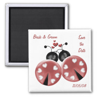 KRW Custom Love Bugs Save the Date Wedding Magnet