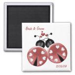 KRW Custom Love Bugs Wedding Favour Fridge Magnets