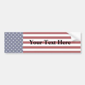KRW Custom Text American Flag Bumper Sticker
