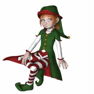 KRW Cute Little Elf Holiday Ornament Photo Sculpture Ornament