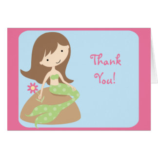 KRW Cute Mermaid Thank You Notes