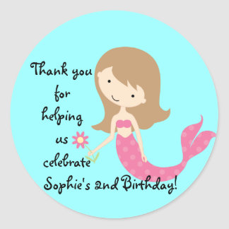 KRW Cute Pink Mermaid Custom Sticker