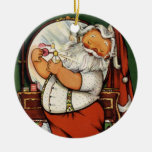 KRW Cute Vintage Santa Claus Holiday Ornament