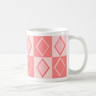 KRW Diamond Patter Mug - Coral