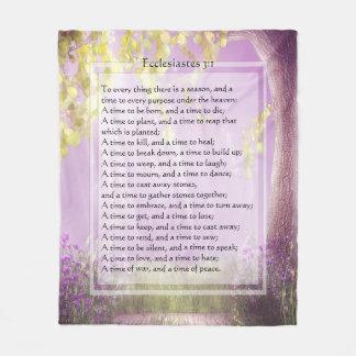 KRW Ecclesiastes To Everything Scripture Blanket