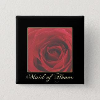 KRW Elegant Red Rose Maid of Honor Pin