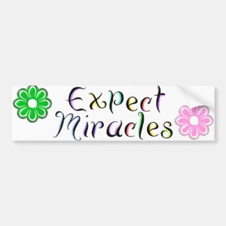 KRW Expect Miracles Bumper Sticker
