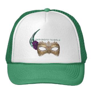 KRW Fancy Mardi Gras Mask Trucker Hat