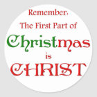 KRW First Part of Christmas Classic Round Sticker