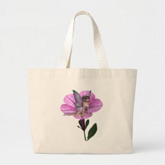 KRW Flower Faery 1 Large Tote Bag