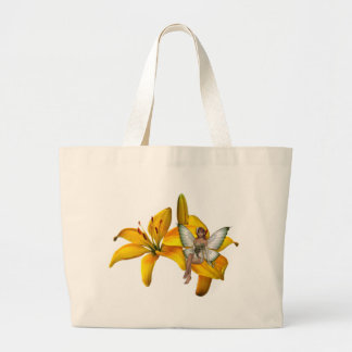 KRW Flower Faery 3 Large Tote Bag