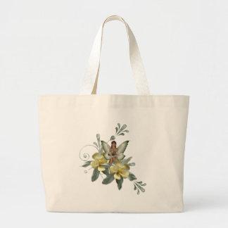 KRW Flower Faery 7 Large Tote Bag