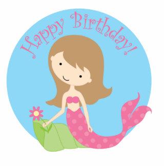 KRW Fun Little Mermaid Birthday Centerpiece Decor Standing Photo Sculpture