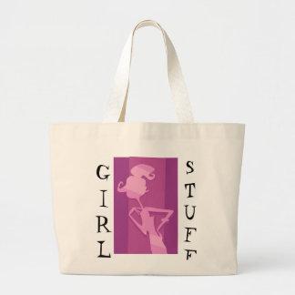 KRW Girl Stuff Fuschia Tote Bag