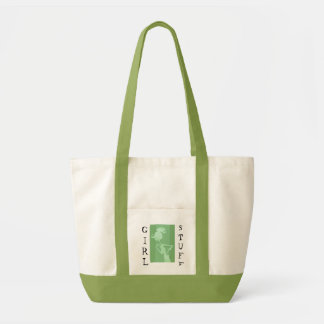 KRW Girl Stuff Green Tote Bag