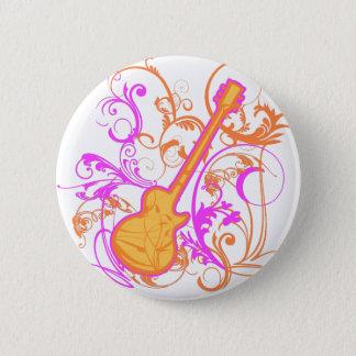 KRW Girl's Rock Guitar Grunge 2 Inch Round Button