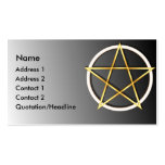 KRW Gold Wiccan Pentagram Custom Business Card