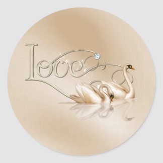 KRW Graceful Swans Love Wedding Seals