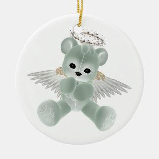 KRW Green Guardian Angel Bear Ornament