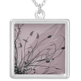 KRW Grunge in Misty Lavender Silver Necklace