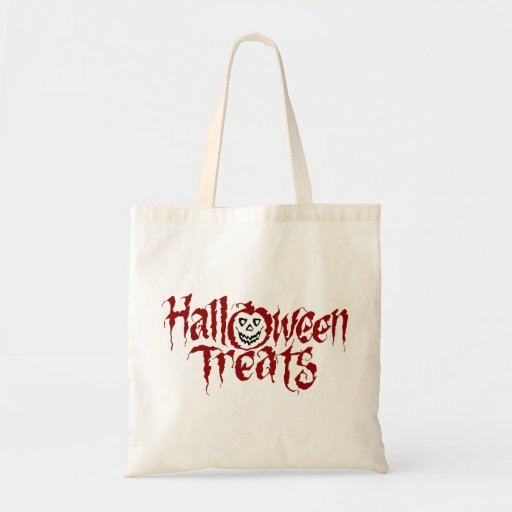 KRW Halloween Treats Trick or Treat Reusable Tote Bag
