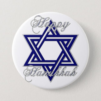 KRW Happy Hanukkah Star of David 3 Inch Round Button