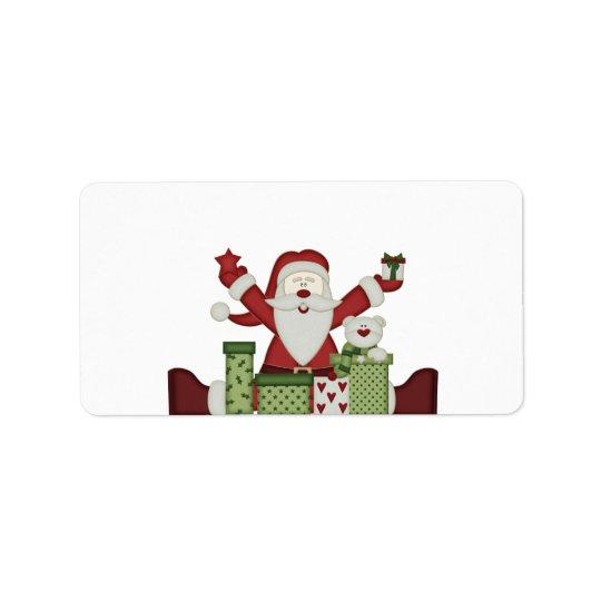 KRW Happy Santa Holiday Medium Blank Label