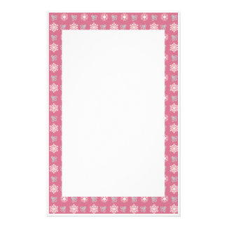KRW Holiday Pink Snowflake Stationery