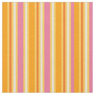 KRW Hot Pink and Orange Stripes Fabric