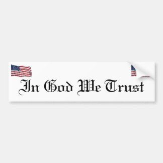 KRW In God We Trust Bumper Stickers