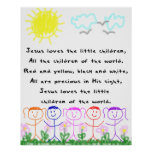 KRW Jesus Loves the Little Children Poster