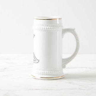 KRW - K - Celtic Monogrammed Stein Coffee Mug