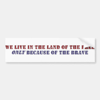 KRW Land of the Free Bumper Sticker