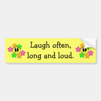 KRW Laugh Bumper Sticker