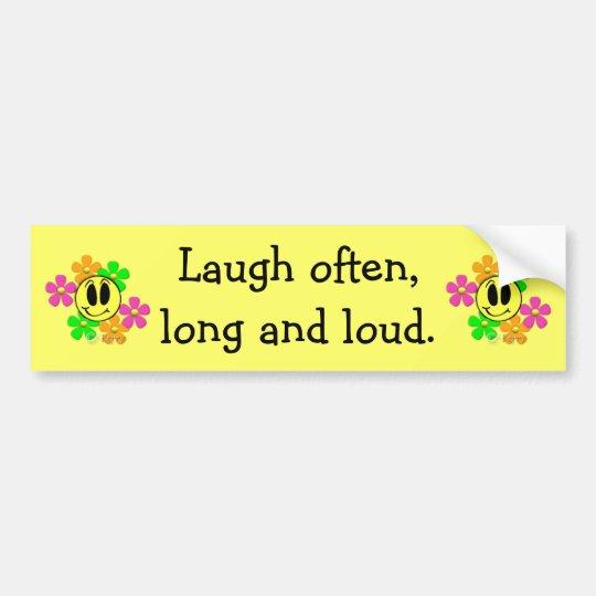 KRW Laugh Bumper Sticker