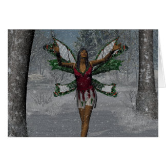 KRW Let It Snow Christmas Faery Card