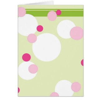 KRW Lime and Pink Dots Blank Card