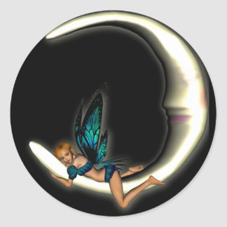 KRW Luna Classic Round Sticker