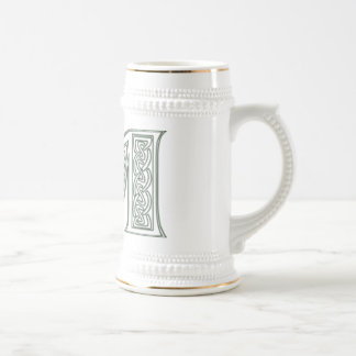 KRW - M - Celtic Monogrammed Stein Mug