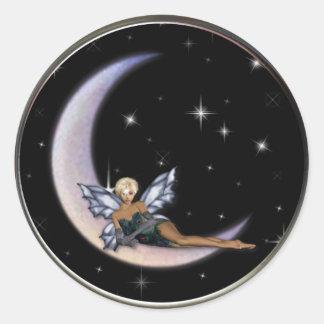KRW Moon Faery Classic Round Sticker