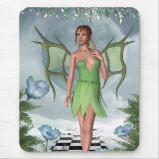 KRW Moonlit Dreams Fairy Fantasy Art Mouse Pad