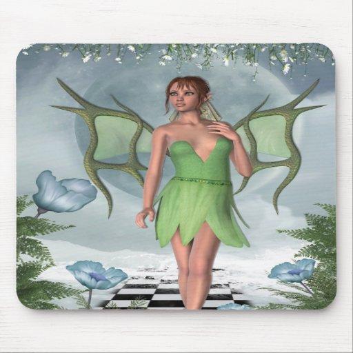 KRW Moonlit Dreams Fairy Fantasy Art Mouse Mat