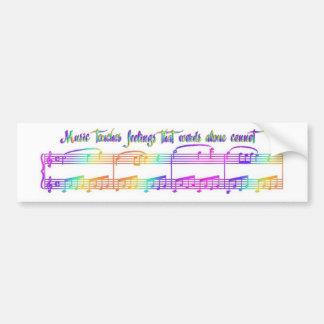 KRW Music touches feelings Bumper Sticker