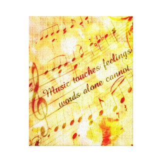 KRW Music Touches Feelings Parchment Canvas Art