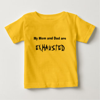 KRW My Mom and Dad are Exhausted Cute Kid's Baby T-Shirt