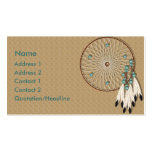 KRW Native American Dreamcatcher Custom Business Cards