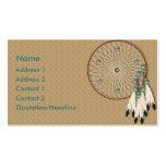 KRW Native American Dreamcatcher Custom Pack Of Standard Business Cards